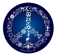 CS141MAG Coexist Peace Symbol Interfaith Mosaic UV Protected Magnet