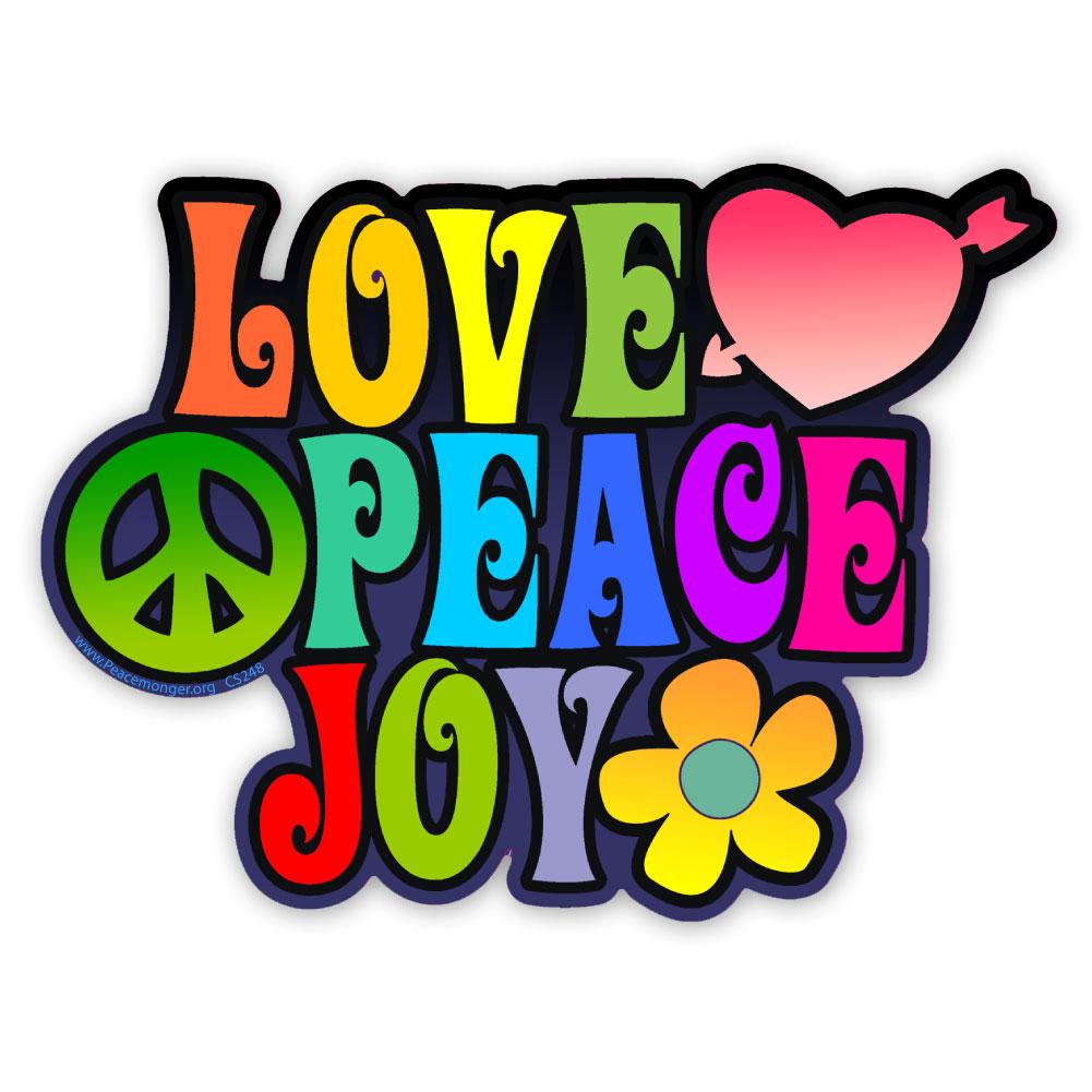 Cs248 Love Peace Joy Color Sticker