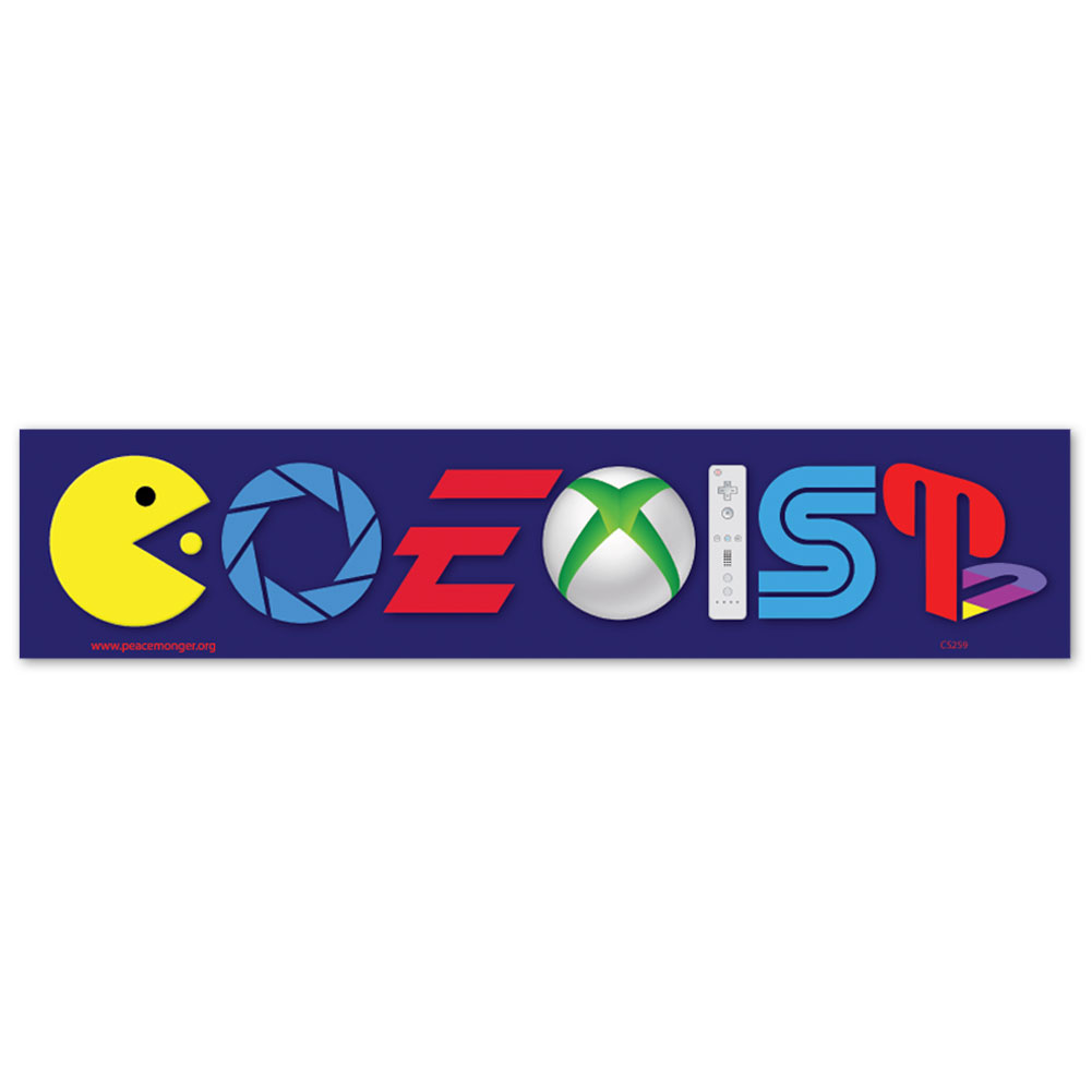 Cs259 Coexist Video Games Parody Color Sticker