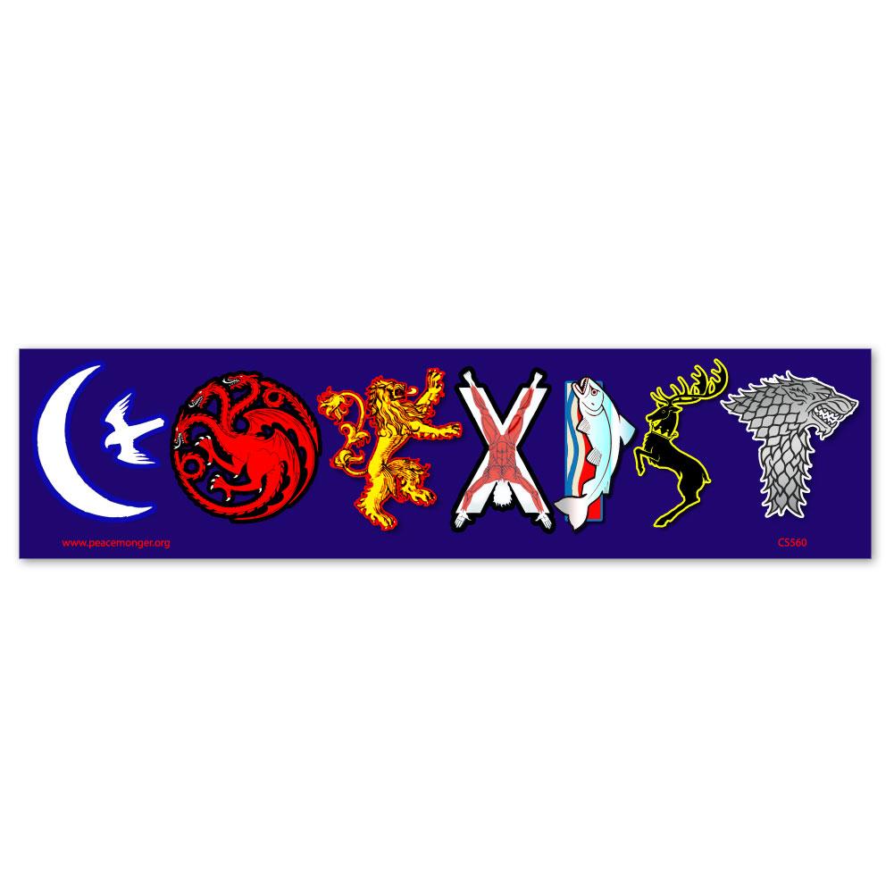 Cs260 Coexist Game Of Thrones Sigil Parody Color Sticker