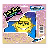 DS082 Grateful New York Deadhead Dead State Skeleton Sun Sunshine Daydream 3 Sticker Decal Set
