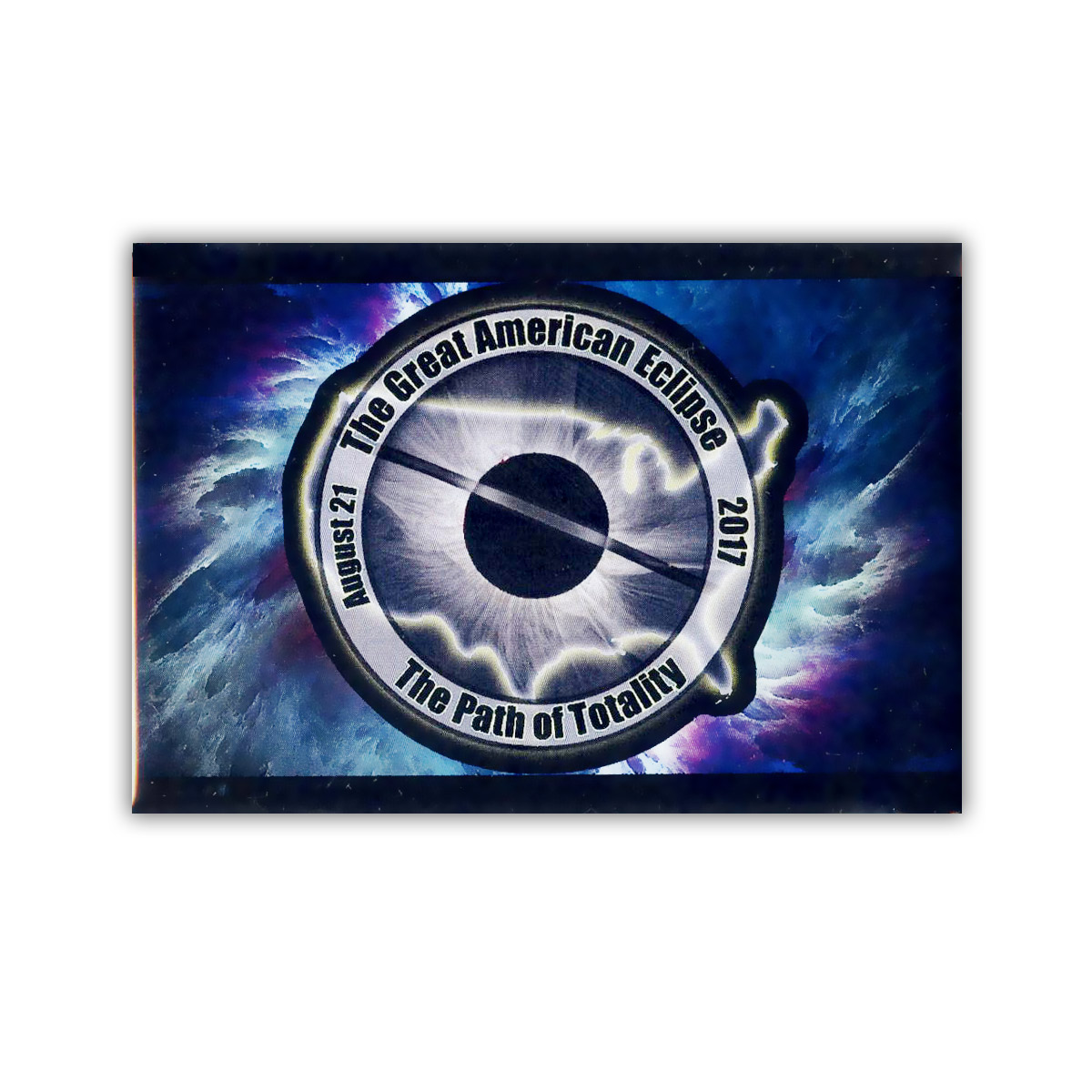 EC051 Great American All Seeing Eye Total Eclipse Souvenir Sticker