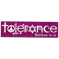 S060MAG Tolerance Believe in It Interfaith Peace Unity Peace Symbol Sign Magnet