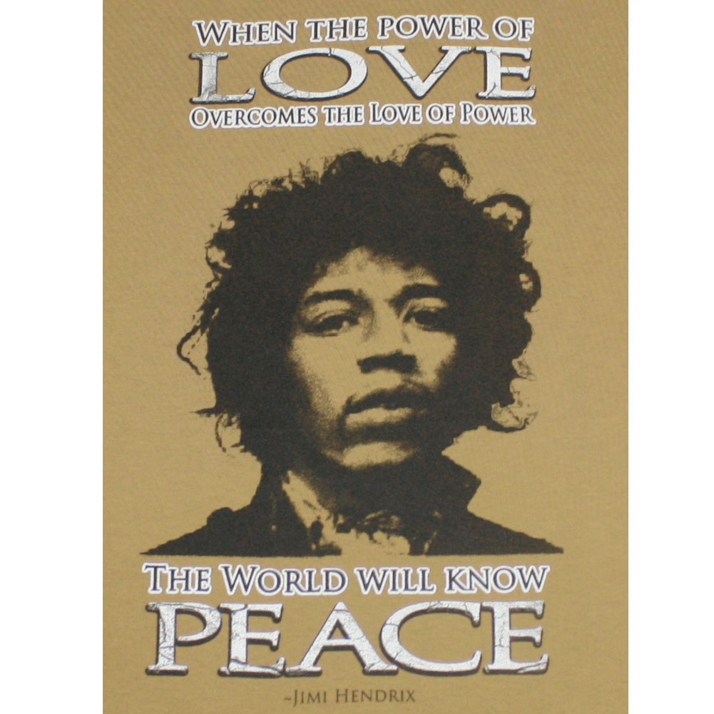 Quotes About People Who Notice: Power Of Love Jimi Hendrix Quote Unisex / Men's T-shirt