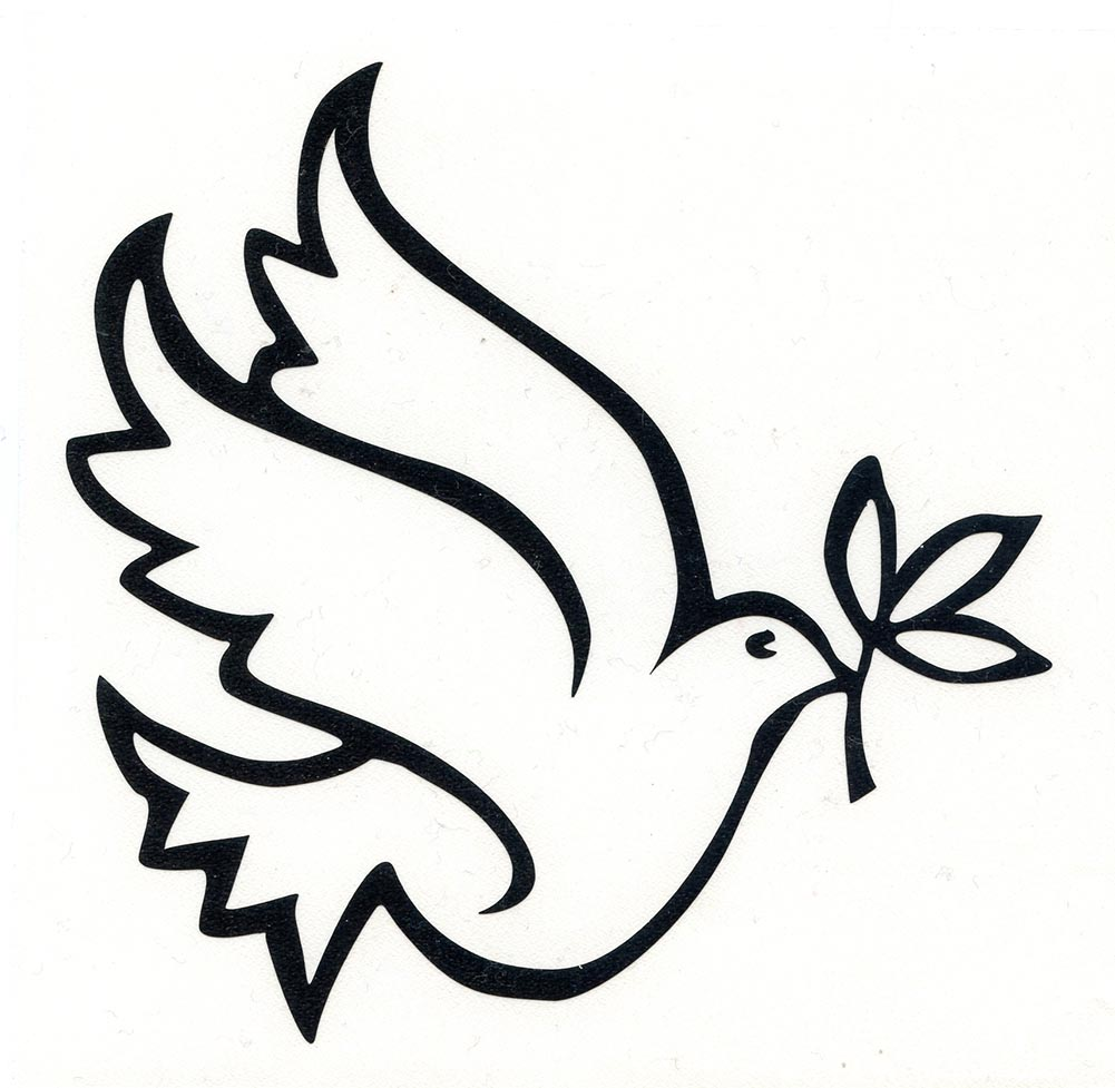 Peace Dove Vinyl Cutout Window Sticker