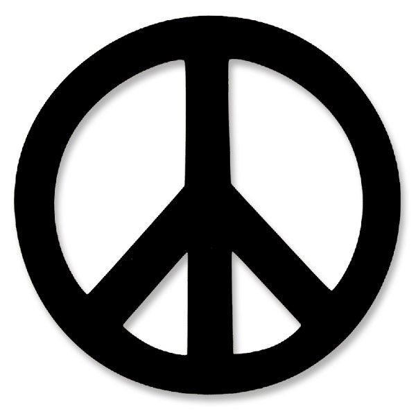 Vl001 Peace Symbol Large Vinyl Cutout Window Sticker Decal
