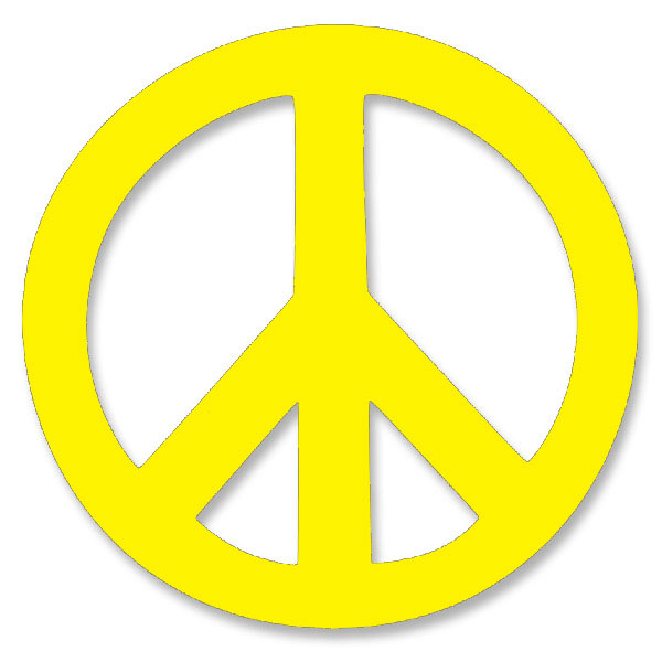 vl001 peace symbol large vinyl cutout window sticker decal