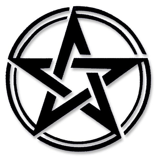 Paganwiccan Pentagram Symbol Small Vinyl Cutout Window Sticker
