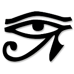 VL004 - Eye of Ra Egyptian Sun Symbol Large Vinyl Cutout WIndow Sticker