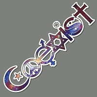 WS001 Coexist Universe Interfaith Peace Equality Giant Mural Wall Sticker