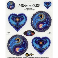 A006 - Dolphin Yin-Yang & Whale Heart Mini Decals