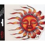 A026 - Blowing Sleeping Dreaming Sun Mike DuBois Art Decal Clear Window Sticker