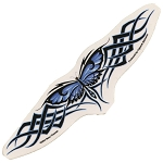 A031 - Tribal Butterfly Art Decal Window Sticker