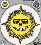 A039 - Skeleton Sun Art Decal Window Sticker