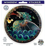 A053 - Stained Glass Dragon Art Decal Window Sticker