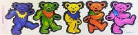 A059 - Grateful Dead Big Dancing Bears Diecut Window Sticker