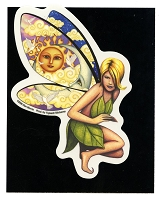 A066 - Morris Fairies Art Decal Window Sticker