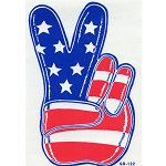 A098 - Peace Flag Hand Art Decal