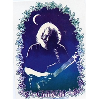 A100 - Jerry Garcia with the Moon Art Decal Window Sticker