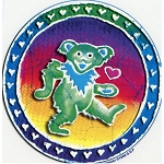 A112 - Batik Grateful Dead Bear Art Decal