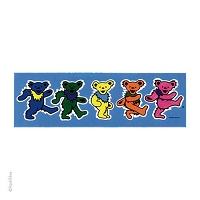 CS271 Rainbow Dancing Bears Color Sticker