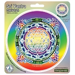 A123 - Sri Yantra Mandala by Jon Berk Window Sticker