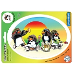 A125 - Rasta Penguins Art Decal Window Sticker