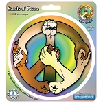 A127 - Hands of Peace Art Decal Window Sticker