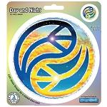 A130 - Jerry Jaspar Day and Night Yin Yang Peace Symbol Art Decal Window Sticker