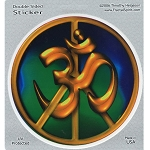 A133 - Ohm/Peace Art Decal Window Sticker