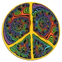A140 - Fractal Peace Art Decal Window Sticker