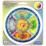A142 - Four Seasons Mandala Art Decal Window Sticker