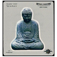 A159 - Stone Buddha Art Decal Window Sticker