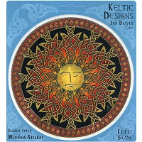 A161 - Lleu Celtic Sun Art Decal Window Sticker