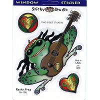 A172 - Rasta Frog Multi-Art Decal Window Sticker
