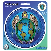 A173 - Turtle Island Art Decal Window Sticker