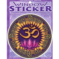 A185 - Aum Navah Art Decal Window Sticker