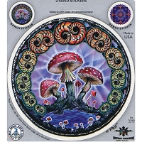 A223 - DuBois Mushroom Art Decal Window Sticker