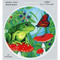 A241 - Frog & Butterfly Decal Window Sticker