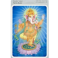 A248 - Ganesha Hindu God by Peter Weltevrede Art Decal Sticker