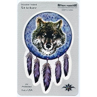 A251 - Wolf Dreamcatcher Art Decal