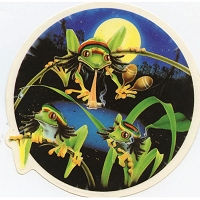 A270 - Rasta Frogs Art Decal