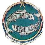 A279 - Vintage Grateful Pisces Zodiac Astrology Dead Skeleton Jerry Jaspar Original Art Decal Window Sticker