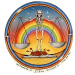 A281 - Libra Grateful Dead Skeleton Art Decal Window Sticker