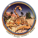 A282 - Vintage Grateful Scorpio Dead Skeleton Art Decal Window Sticker Collectible