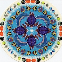A284 - Sealife Mandala Art Decal