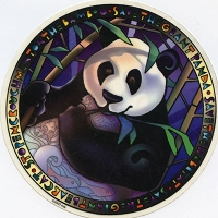 A302 - Save the Giant Panda Art Decal Window Sticker