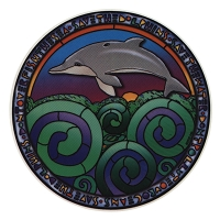 A303 - Save the Dolphins Art Decal Window Sticker