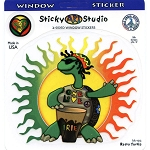 A331 - Rasta Turtle Art Decal