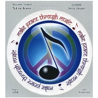 A332 - Make Peace Through Music Art Decal Window Sticker